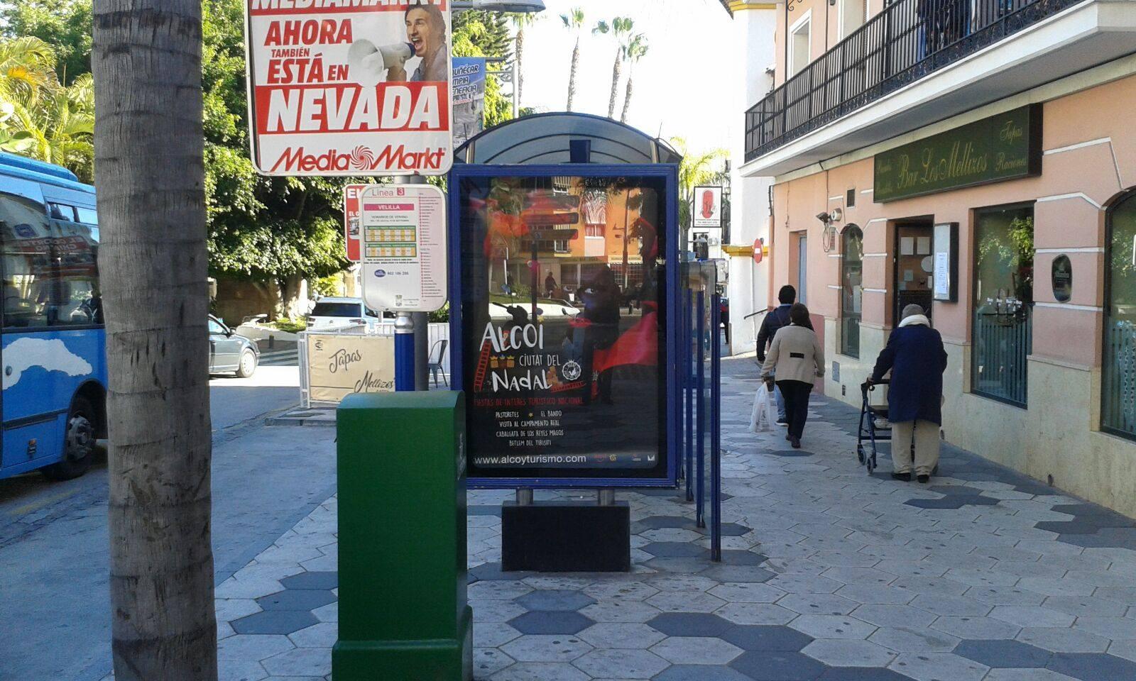 Foto La publicidad de 'Alcoi Ciutat del Nadal' ha llegado a las principales ciudades turísticas de Andalucía