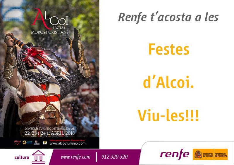 Foto Las fiestas de Moros y Cristianos se anuncian de manera gratuita con Renfe