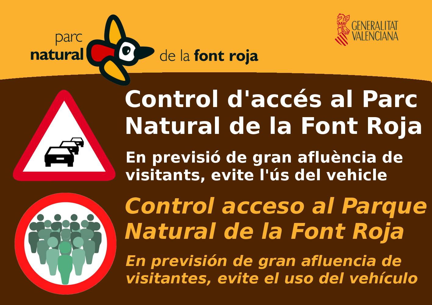 Foto Recomendación de acceso al Parque Natural de La Font Roja