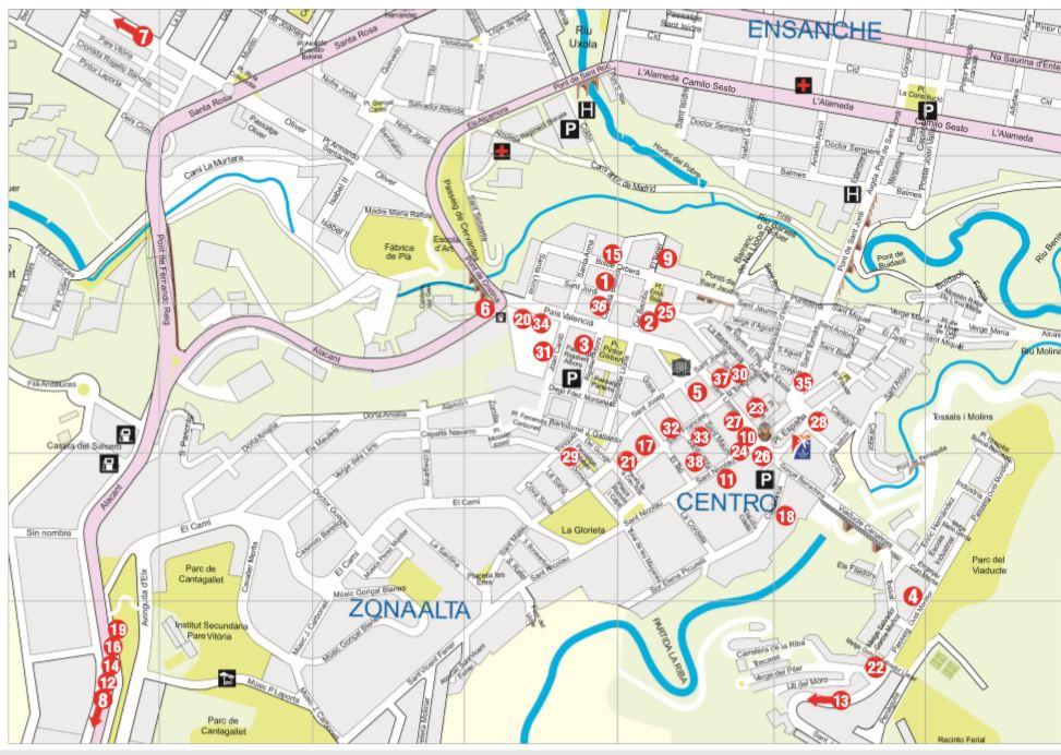 Mapa Listado Restaurantes Centro