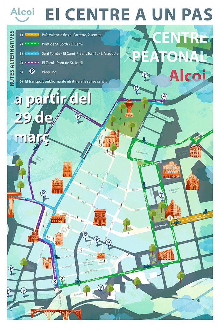 Foto Mapa Peatonalización Centro
