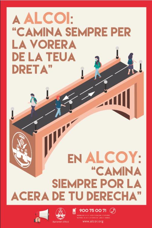 """Foto En Alcoy: """"Camina siempre por la acera de tu derecha"""""""