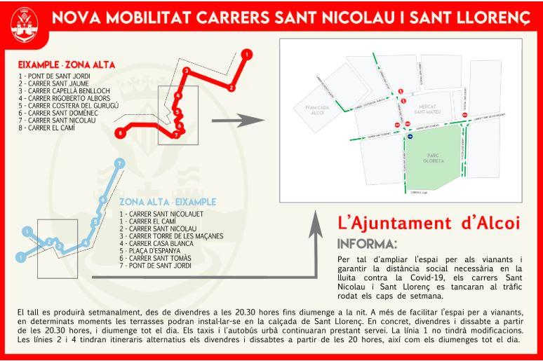 Foto El ayuntamiento de Alcoy hará para peatones algunas calles por facilidad la movilidad con distancia de seguridad