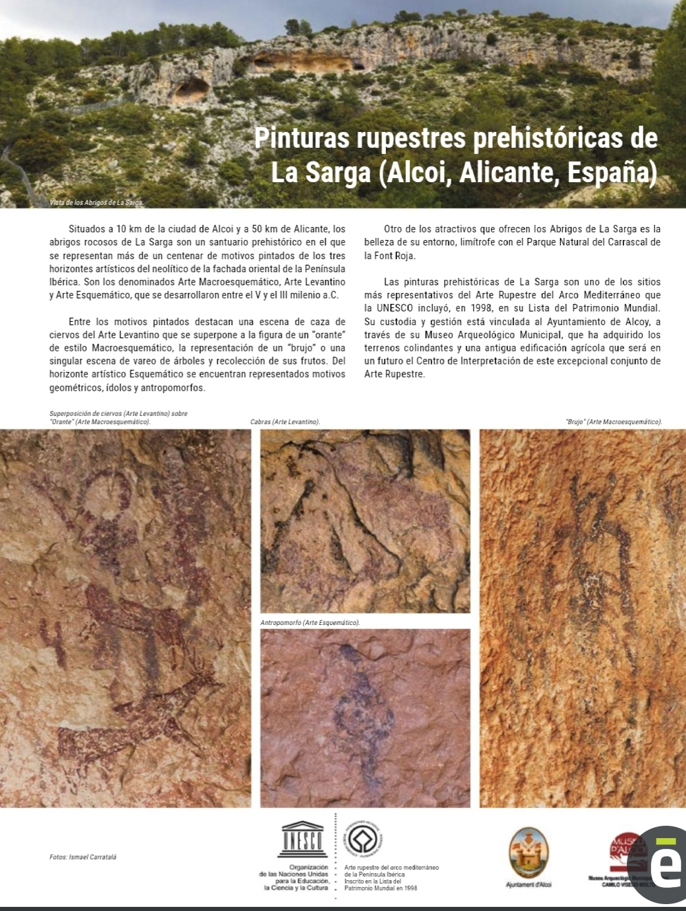 Foto La Sarga se promociona en la revista Patrimonio Mundial de la Unesco a nivel internacional