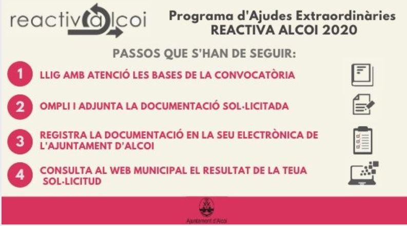 """Foto Publicadas las ayudas """"Reactiva Alcoi"""" para empresas y autónomos"""
