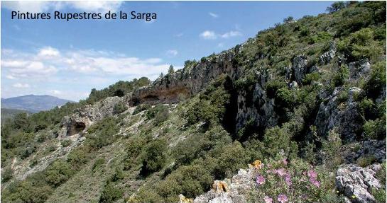 Foto LA SARGA   Via Verde - Pinturas Rupestres