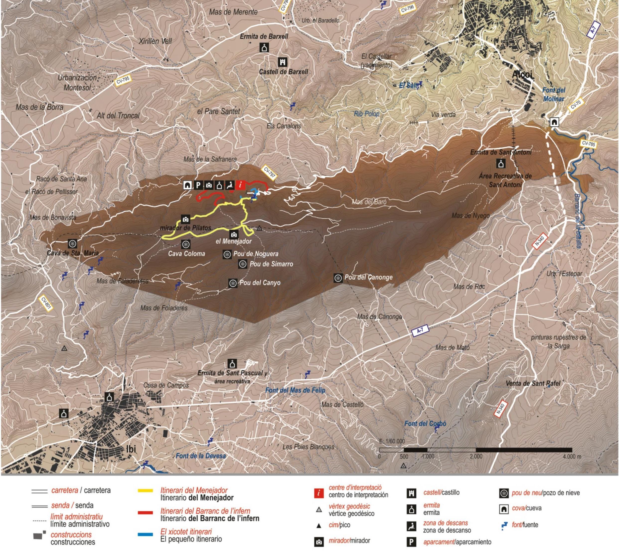 Foto Mapa Rutas De La Font Roja