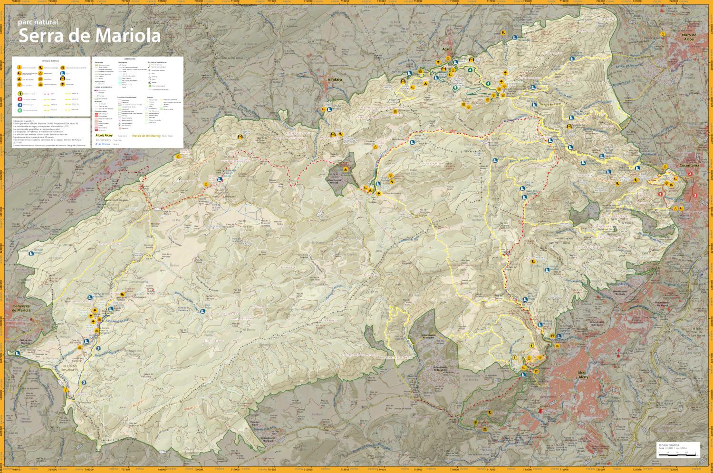 Foto Mapa Rutas de la Serra Mariola