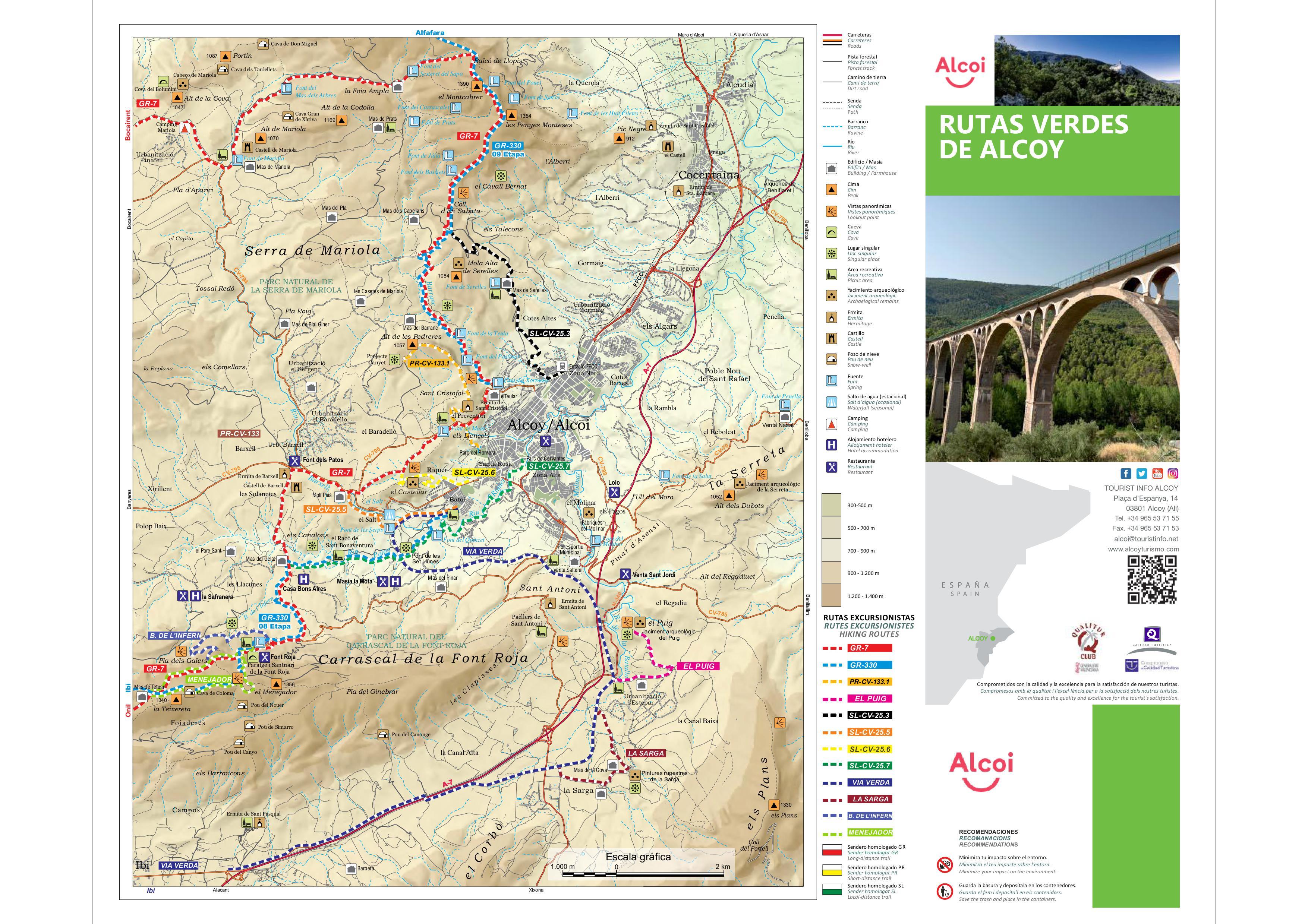 Foto Mapa Rutas de La Vía Verde